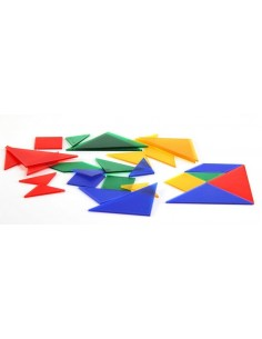 Lot de 4 tangrams transparents