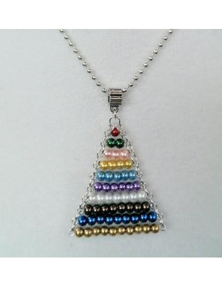 Collier pendentif escalier des perles colorées