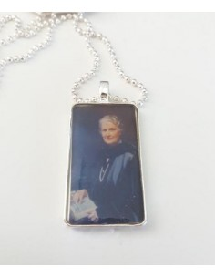 Collier pendentif rectangle - Maria Montessori