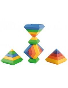 Lot de pyramides, 60 pièces