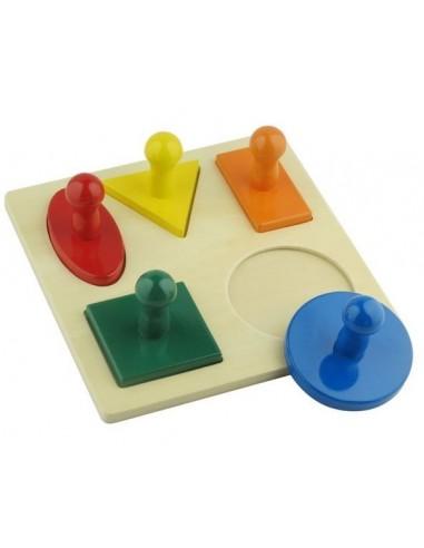 Puzzle 5 formes géométriques lot n2