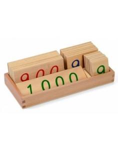 Petites cartes des nombres 1-1000 Haut de gamme