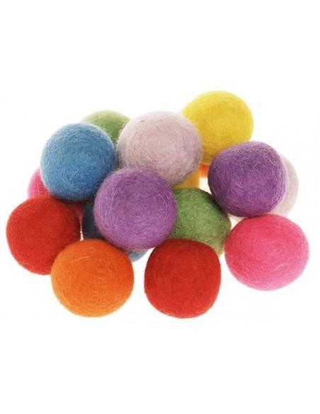 Pompons colorés, taille moyenne