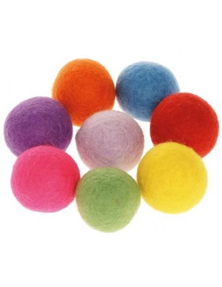 Pompons colorés, grande taille