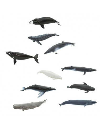 10 figurines Baleines