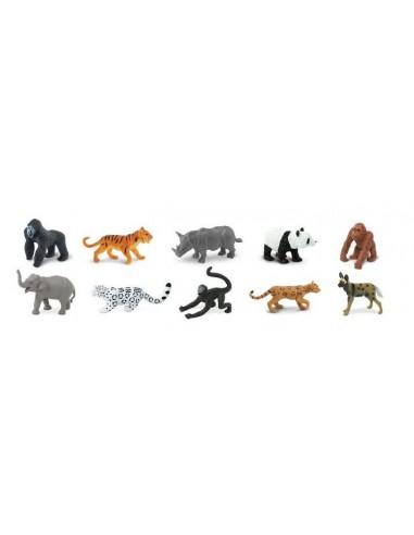 10 figurines Animaux menacés terrestre