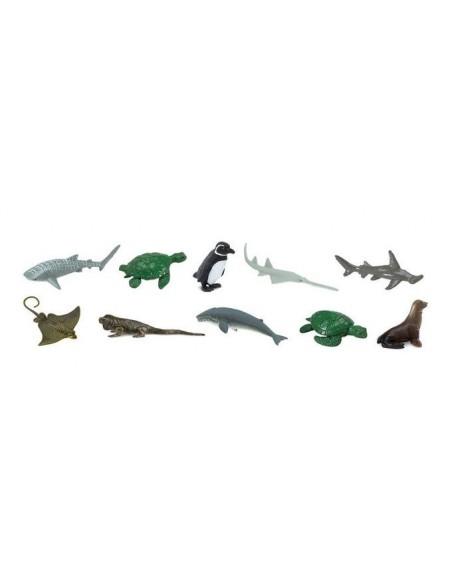 10 figurines Animaux menacés marins