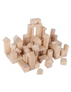 Sac jeu de construction en bois