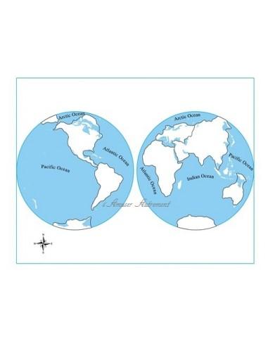 Carte controle muette planisphère
