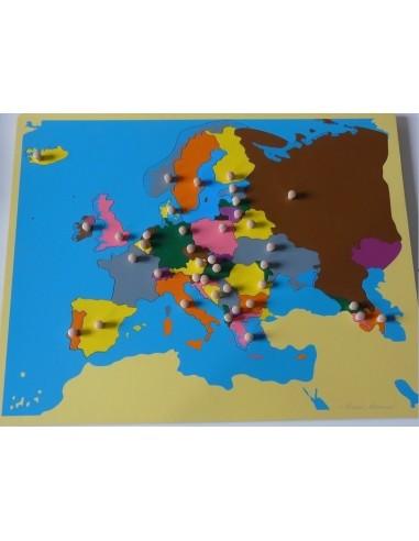 Carte De Leurope Jeux Educatifs.Carte Puzzle De L Europe Petit Modele Montessori S Amuser Autrement