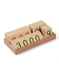 Petites cartes des nombres 1-3000 Haut de gamme