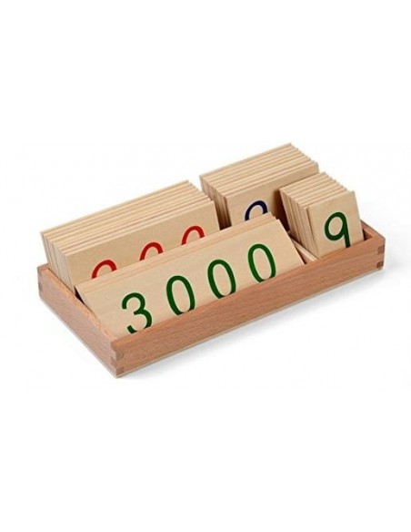 Grandes cartes des nombres 1-3000 Haut de gamme