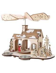 Maison de Noel avec hélices