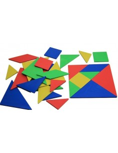 Lot de 4 Tangram en Re-Plastic