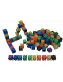 Lot de 100 cubes encastrables colorés