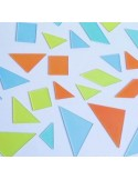 Lot de 4 tangrams transparents pastels