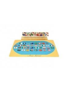 Puzzle des drapeaux du Monde