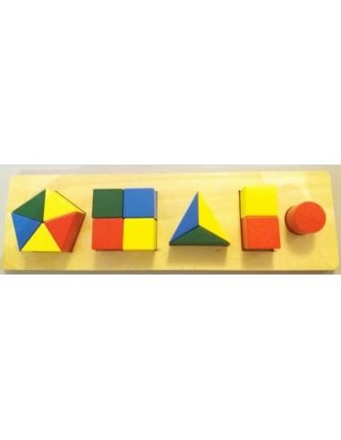 Plateau des formes géométriques fractionnées déstock