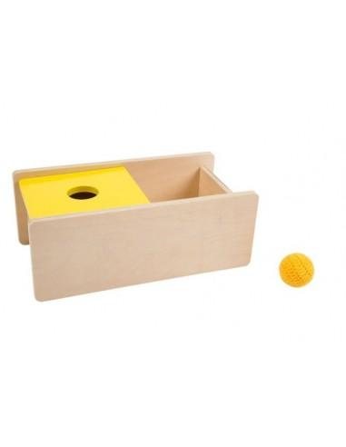 Boîte avec couvercle basculant balle