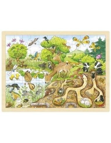 Grand Puzzle bois, Découverte de la nature