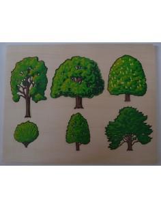 Puzzle arbres et leurs fruits