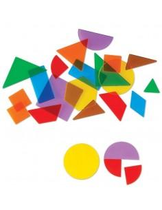 Lot de 408 formes géométriques transparentes