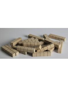 20 barre de 5 - base 10 en bois naturel