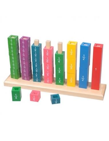 Tour des fractions en bois