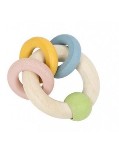 Hochet anneaux colorés pastel