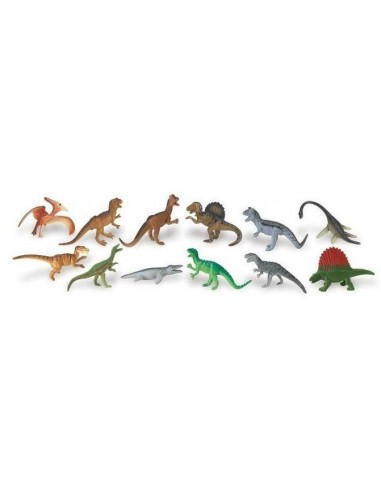12 figurines Dinosaures carnivores