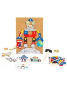 Jeu marteau et clous - Les Robots