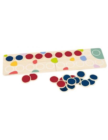 Set numération en bois 1-20 avec jetons bicolores