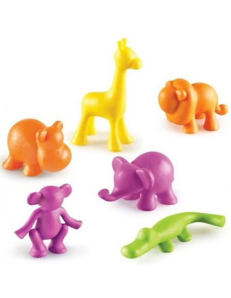 Figurines Jungle, set de 24