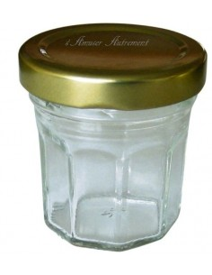 Pot en verre doré