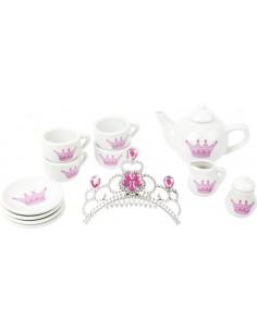 Service à thé en porcelaine Couronne