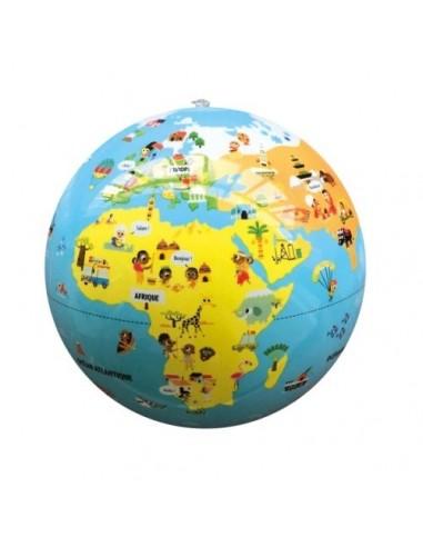 Globe gonflable Voyageurs 30cm