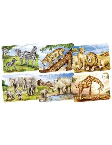 Mini Puzzle Animaux Africains