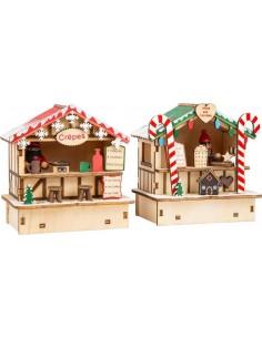 Lampes Cabanes de Noel
