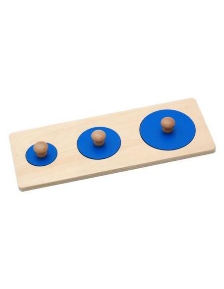 Puzzle 3 ronds Bleus