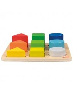 Petit plateau des formes géométriques colorées
