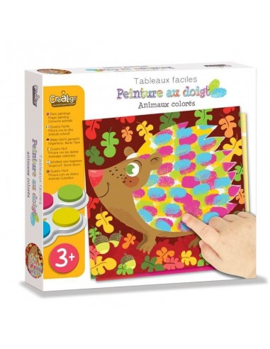 Peinture au doigt Animaux colorés