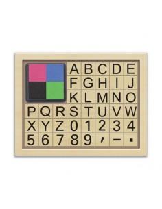 Coffret Tampons Lettres et chiffres