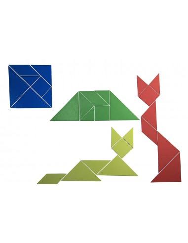Lot de 4 Tangrams magnétiques
