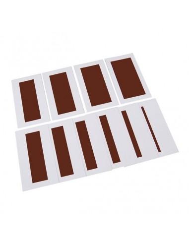 Cartes pour l'escalier marron