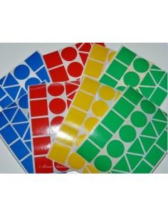 184 maxi gommettes géométriques