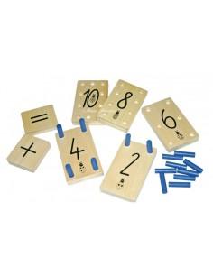 Tablettes des chiffres et pions