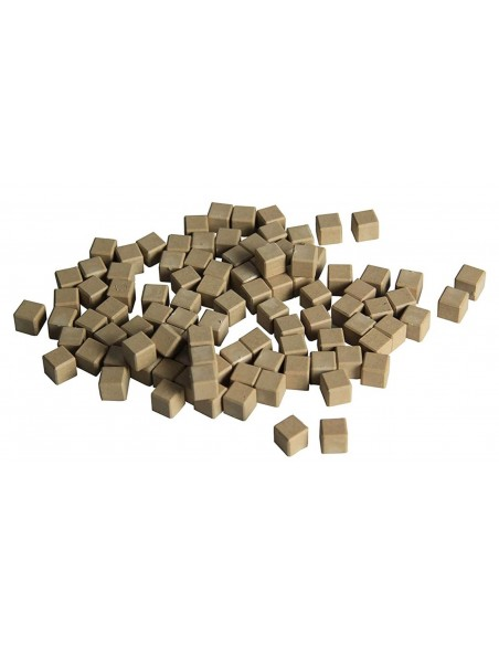 100 cubes unités en bois naturel base 10