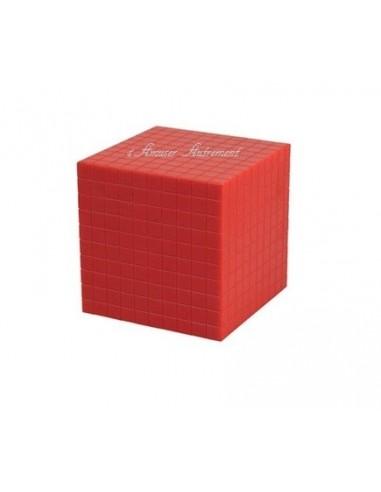 cube de 1000 rouge base 10 plastique montessori s 39 amuser autrement. Black Bedroom Furniture Sets. Home Design Ideas