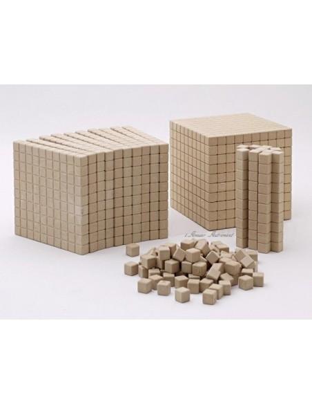 121 pièces bois - base 10 en bois naturel